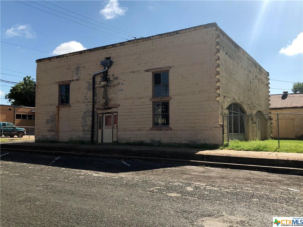 A rare opportunity, very unique, so much potential. This 2500 SF commercial building is one block from N Main St in Schulenburg. The right buyer will need to give it the TLC that it needs, it's definitely a diamond in the rough & looking for a new purpose. A real conversation piece. This property will need to be surveyed out of the parent tract.