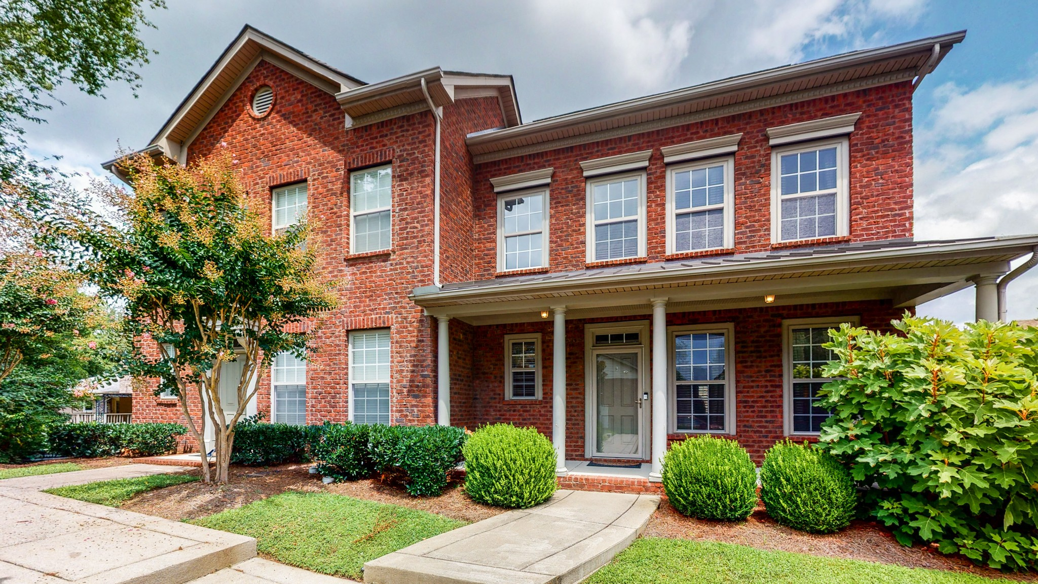Attractive home with spacious primary bedroom on main level.  Home offers a total of 3 Bed 2.5 Bath with detached 2 car garage, covered front porch and patio. All appliances to remain. 5 minutes from I 65 S & Old Hickory Blvd.  Walking distance to restaurants.