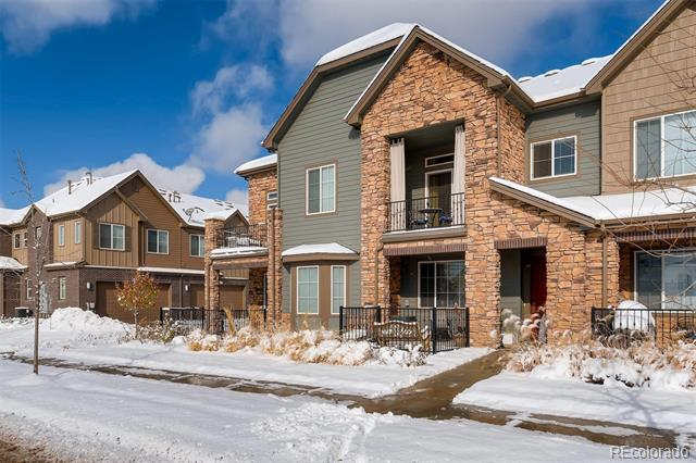 This beautiful 3 bed, 3 bath townhome is located in the quiet community of Littleton Village with parks in every direction. Upgraded granite countertops, gas stove, stainless steel appliances, updated cabinets, electric fireplace, sliding barn door in master bedroom, and plenty of shelves in the garage for storage. Lovely 5-piece master bath with large walk-in closet. Wonderful balcony off of the master suite. Private laundry room. Spacious outdoor patio. Minutes to countless restaurants, shops, and major highways. Welcome home!