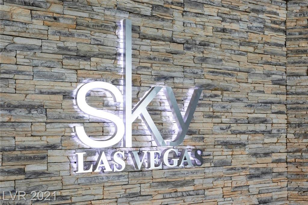 2 beds, 2.5 baths with strip and mountain views.  Bosch and Sub Zero appliances.  Wrap around balcony.  Sky offers a strip location, pool, spa, billiards room, racquetball court, business center, valet parking and much more.