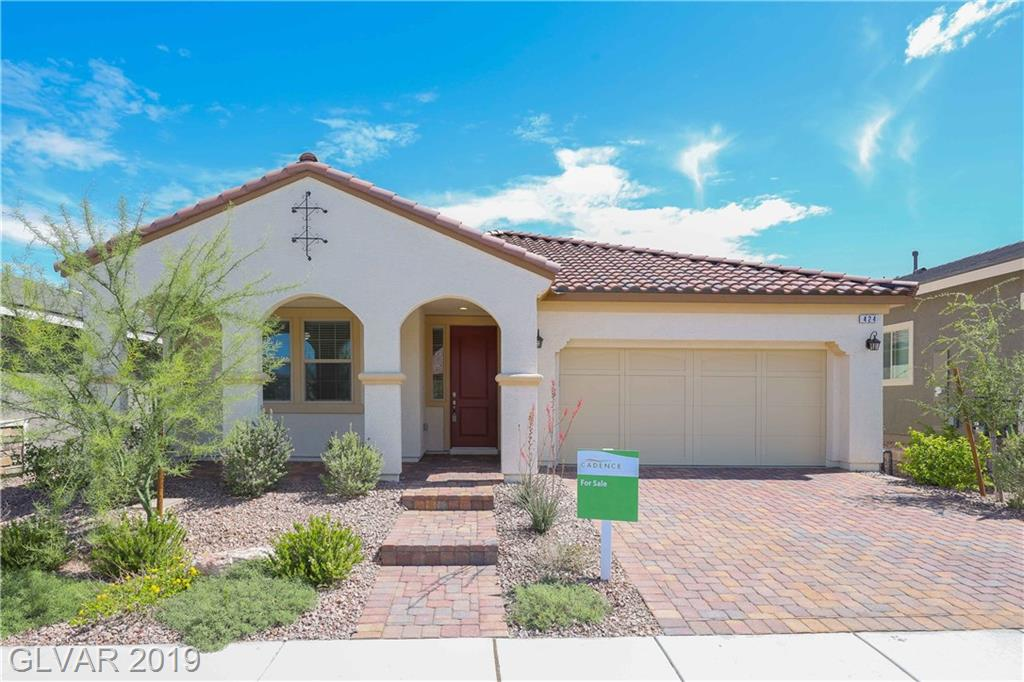 Gorgeous SINGLE STORY 3BDRs & 2BTHs HOME in Cadence Village! Open layout w/joined Family Rm & Dining. Kitchen w/granite cnts, pantry, island & dbl oven. Laundry w/entry from attached 2car-garage. Master BDR w/walk-in closet & Master BTH w/dual sinks, sep. tub & shower. Great curb appeal w/pavers driveway, cozy porch & large backyard w/covered patio. Compliance w/Cadance's Architectural deadline covering the unimproved rear yard guidelines apply.