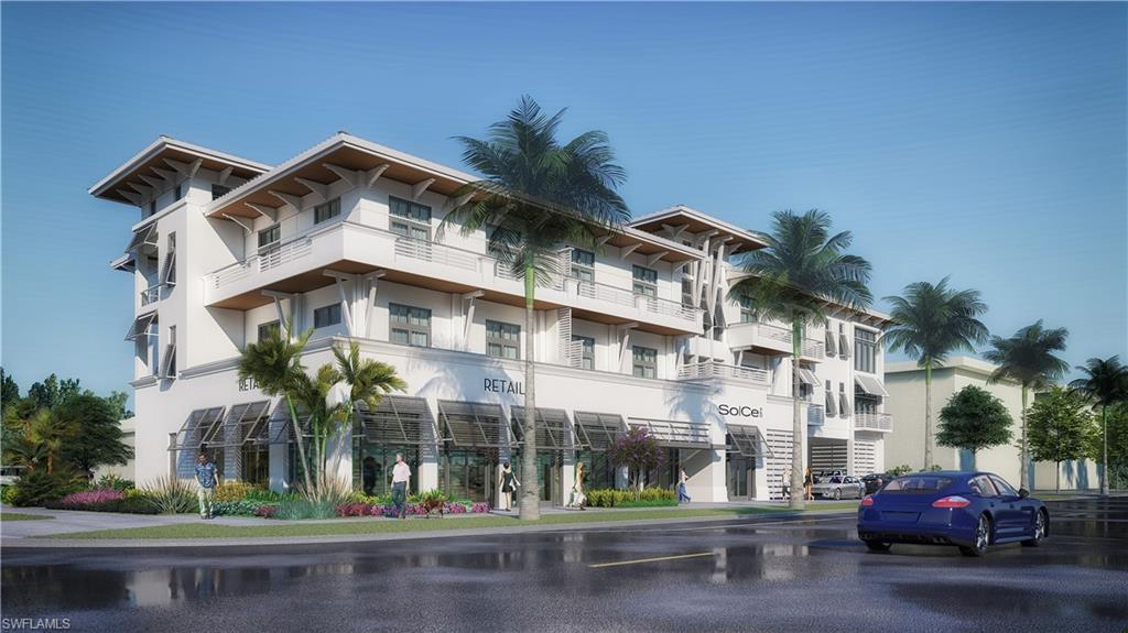 """Looking for a new construction pied-a-terre in Olde Naples? A place for guests...not under your roof? This residence is 2 bedrooms, 2 full baths with a full kitchen and even a balcony off the great room. This boutique hotel/condo project features 18 residences. One bedroom, one bedroom + den and two bedroom plans are available. Square footage ranges from 610 to 1220 under air and prices range from $575,000 to $900,000. Located just South of Central, SoCe, is highly walkable to 5th Ave S and the beach. 8th St S will see major changes with new developments and the 8th St S beautification project. SoCe Flats offers a refreshing design appealing to discerning tastes. Full kitchen and washer and dryer in each residence. SoCe Flats owners will be allowed to customize their interior finishes as well as furnishings. Owners/guests will have the option to access many hotel services """"On Demand."""" All of the benefits of a hotel/condo without the demands! An owner is allowed to use their condo up to 150 days per calendar year and will have the option to rent their condo through a preferred management company or on their own, or not at all. NOW TAKING CONTRACTS AT PRE-CONSTRUCTION PRICING!"""