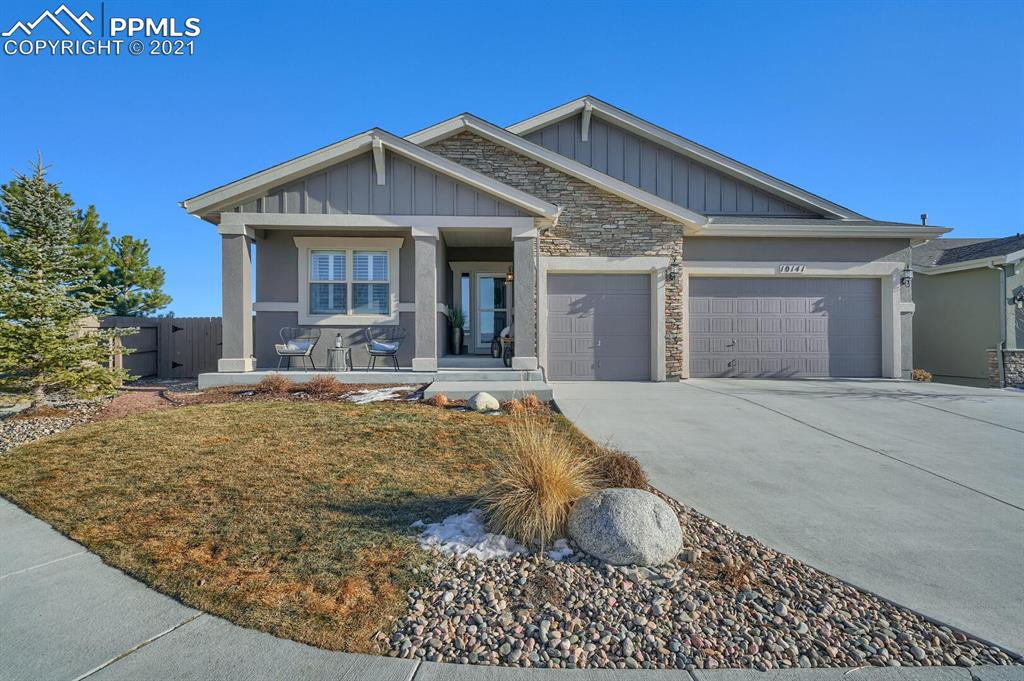 """What's to love about this home: Beautifully upgraded Vantage ranch home in the highly sought after community of Cordera, located at the end of a cul de sac with stunning mountain views from the front of the home.   This home has just over 4,000 sq ft, 4 bedrooms and 3 bathrooms.  The main level has an open floorplan concept with large 8'.6"""" custom kitchen island, white Quartz countertops, white staggered cabinets with crown molding, dual zone beverage fridge, beautiful non builder grade pendant lights, separate eating nook with easy access to covered patio, 11' ceilings, and hardwood floors throughout.  Kitchen is stubbed for a gas oven.  Built in mudroom off the garage is a perfect drop zone for coats and shoes.  Floor to ceiling, eye catching stone fireplace will make you say 'Wow' .  Large Master bedroom, with adjoining upgraded spa master bath, separate vanities with plenty of cabinet space. and large Master bedroom closet.   Nice size guest bedroom and bathroom completes the main level.  Downstairs you will find 9 ft ceilings, 2 additional bedrooms, full bath, and large family/rec room, stubbed for wet bar.  But wait, there's more.  Can you ever have too much storage?  This home has a 17'.6"""" x 15'.3"""" storage room, which includes a SECOND washer and dryer hook up!  5th bedroom and en suit bathroom is partially complete with framing and electrical permitted.  Extras in this home include radon mitigation system, in ceiling speakers throughout the home located in the garage, kitchen, covered patio, master bathroom, and basement.  I know right!  Fully landscaped and fenced yard with gas fire pit.  Convenient access to shopping, hospitals, and trails.  Community Clubhouse offers a workout room, outdoor pools, and beautiful grand lawn."""