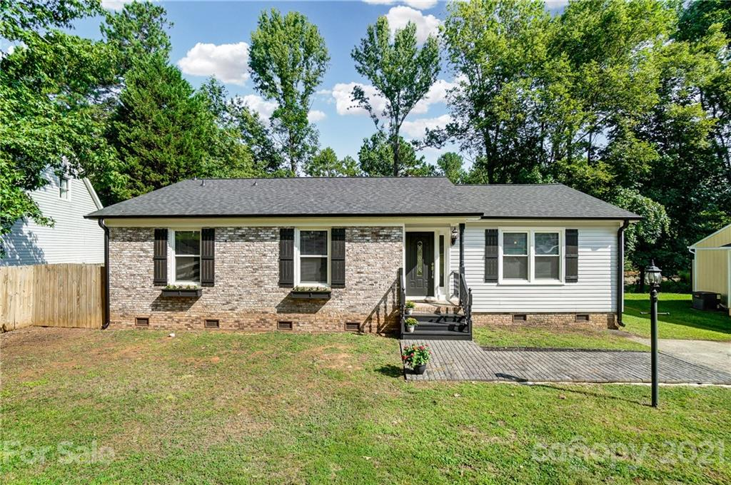 Wow! What a find in Mcalpine Woods! Absolutely gorgeous, totally remodeled 3BR/2BTH ranch on quiet cul de sac lot. Light/bright open plan features NEW HVAC (heat pump) 4/2021, NEW windows 2015, NEW vinyl siding, soffit & fascia 4/2021, NEW roof w/Architectural shingles 5/2021, NEW gutters & downspouts 5/2021, NEW upper/lower Shaker style kitchen cabinets 6/2021. NEW granite countertops in kitchen & baths 7/2021, NEW disposal & dishwasher 7/2021, NEW Pelican Gray LVP luxury vinyl plank flooring throughout 8/2021, NEW Kohler toilets 8/2021, NEW paint 8/2021, Electric water heater 6/2016, new fixtures 2020. Extensive molding. Coiffured ceiling in great room. NO POPCORN CEILINGS! Awesome wired 16 x 20 outbuilding out back. Hurry!