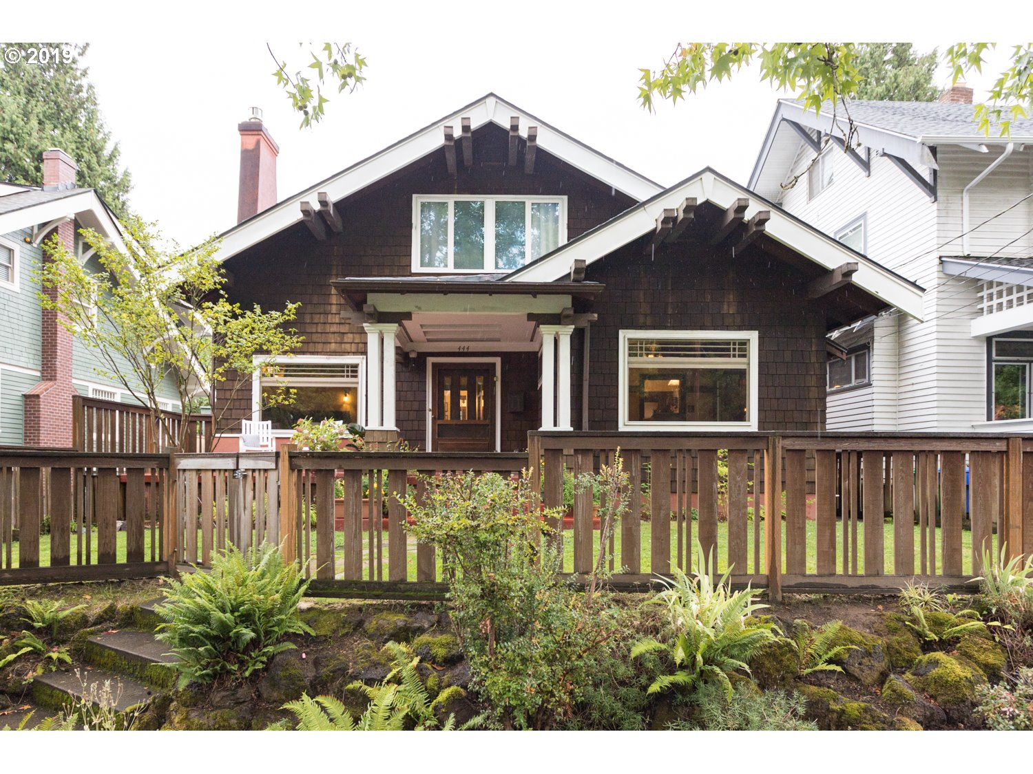 Beautiful and charming 1911 American Arts and Crafts Bungalow in classic Laurelhurst! Loads of gorgeous original unpainted woodwork and builtins throughout. Complete with a high efficiency furnace, central air and central vacuum! Enjoy sidewalk strolls through the treelined streets, dining and shops on NE 28th Ave.  Three bedrooms, two full bath, plus bonus main floor flex room, backyard deck and front yard patio! Not to be missed!