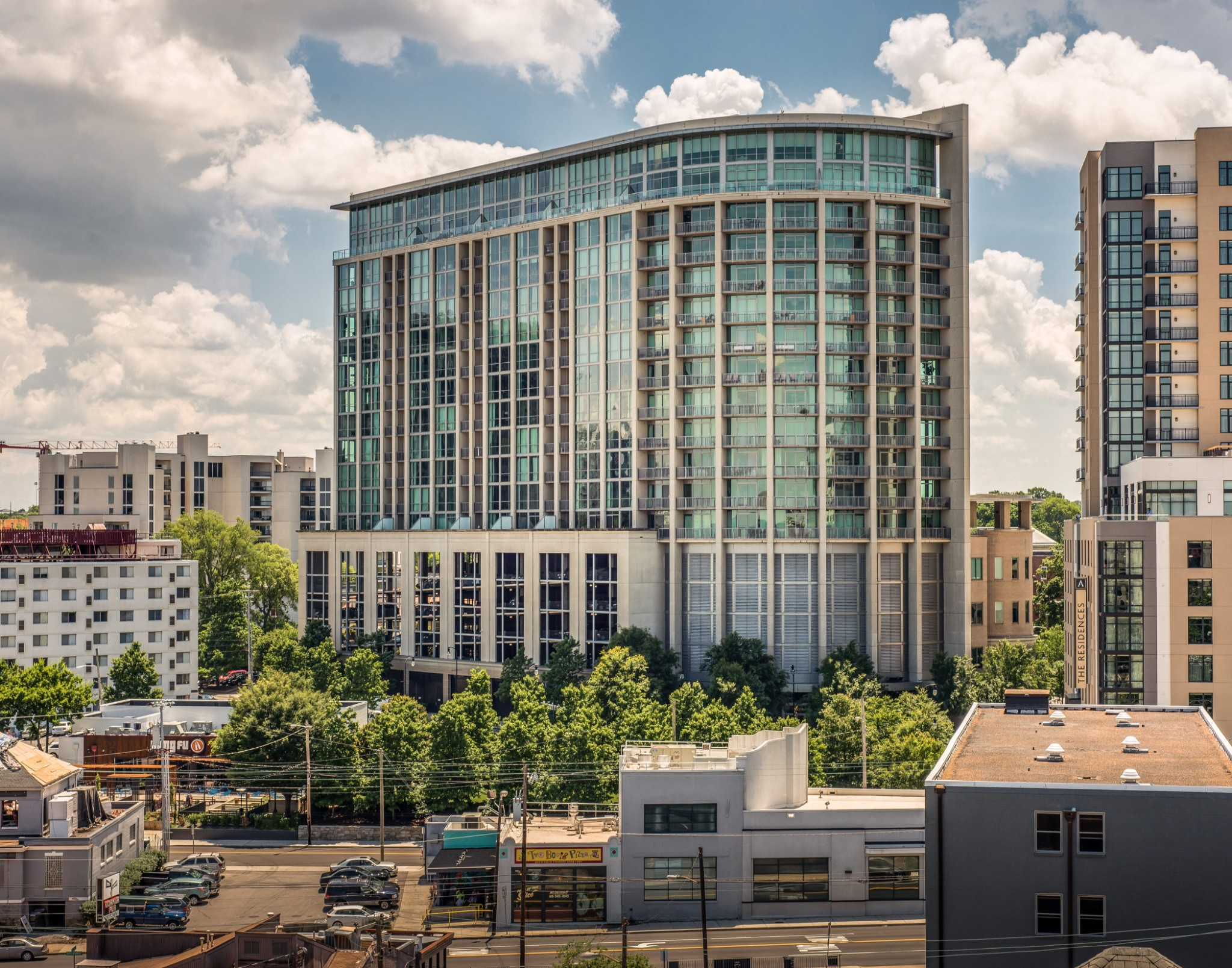 Beautifully renovated condo in one of Nashville's most established high-rise communities. New kitchen, baths, custom details throughout with tasteful and very current finishes. Condo conveys with 2 parking spaces, and overlooks the lush Adelicia private park w/ fantastic views of the city!  Listing agent must be present to show.