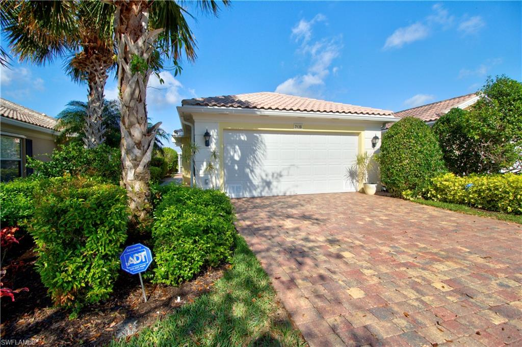 """Look at this Beautiful 2 bedroom, 2 baths open den Capri Pool home with a spectacular western view.  Real Divosta! Built Solid Poured Concrete.  This beautiful home features include: Upgraded Plantation shutters, New pool heater and pump 12/2017, pool resurfaced 12/2018, fresh paint, updated stainless steel appliances, new granite in kitchen, upgraded hardwood floors in bedroom and den, tile in rest of the areas, new hot water heater, new garbage disposal and A/C replaced in the last 5 years and a  6' ft privacy wall between you and your neighbor.   VeronaWalk offers  24 hr guarded gated entry, lighted tennis, boccie ball, basketball and pickleball courts, resort-size community Lagoon pool, lap pool, children's play area, over 20 miles jogging/hiking trails, 24/7 fitness center. The Town Center features post office, restaurant, travel agency, hair salon, car wash, gas station, library, computer center, ballroom, card rooms, and a full-time activities director. VeronaWalk was awarded """"Community of the year"""" for the State of Florida in 2014."""