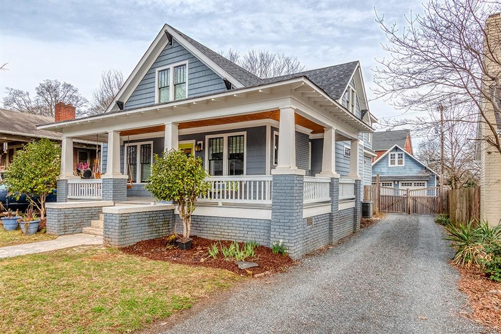 Live steps away from the best Charlotte has to offer in this gorgeously updated craftsman on Commonwealth Avenue!   This main level is open concept and perfect for big get-togethers with a beautifully designed kitchen and a mudroom grants you access to the backyard/garage.   The main level also features two bedrooms, a full bathroom, and a half bath.   Upstairs, you will find a stunning master bedroom with a huge bonus room/flex space that you can truly make your own.    The fenced-in backyard, two-car garage with ample storage and the rocking chair-ready front porch finish off this gorgeous home.   This location cannot be beaten; enjoy the buzz of Plaza Midwood being right outside your door!