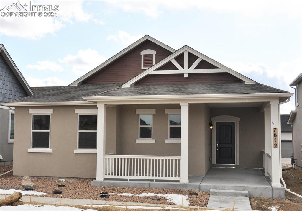 Ready in November. Harmony ranch plan with 2 car garage in Renaissance at Indigo.  3 bedroom, 2 bath home. Kitchen features white maple cabinets and crown molding. Quartz counters and stainless appliances. Includes air conditioning. Exterior living includes 12x10 patio and fully completed landscaping with back yard fencing.