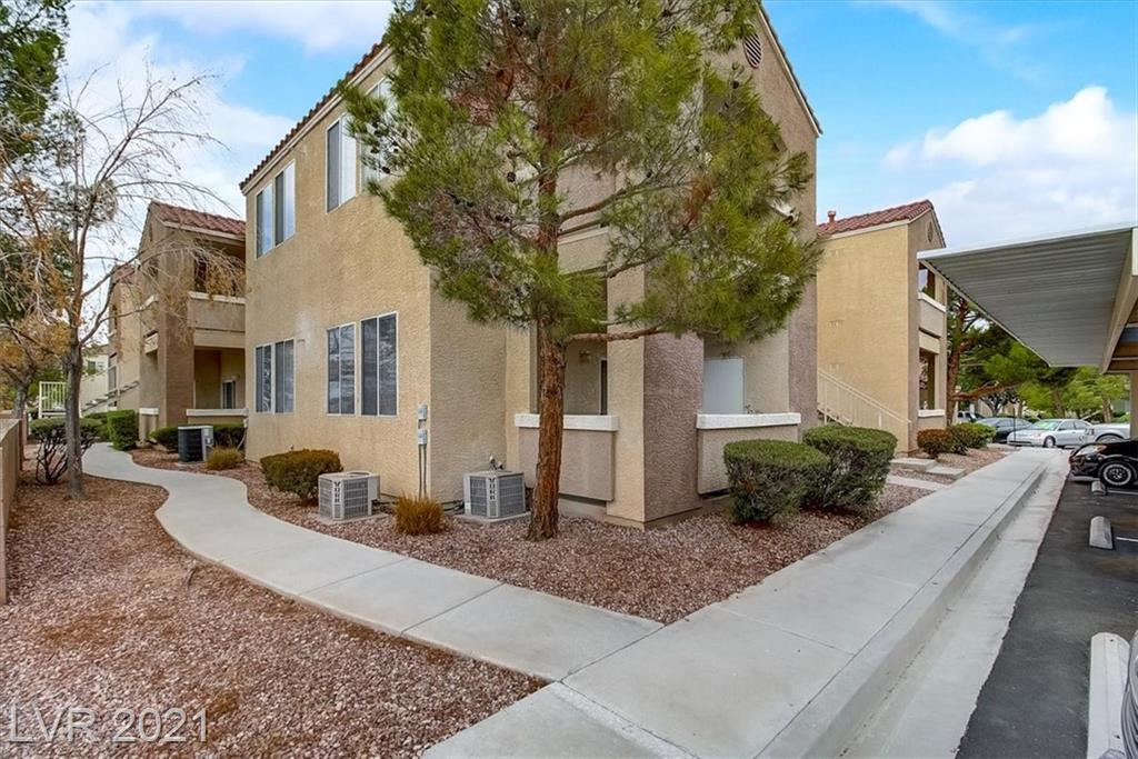 Location location location, One bedroom one bathroom, recently remodeled with tile flooring and carpet in the bedroom. Located on the first floor, views of the mountains can be seen from the balcony. Located inside a gated community, that features swimming pool. One covered parking spot in front of condo as well as guest parking.