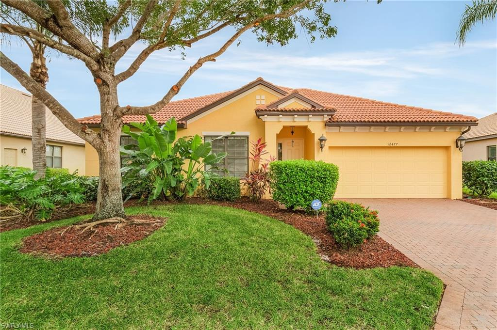 Offering the ultimate SW Florida lifestyle, this single family pool home in the premier community of Gateway is a must-see! Well-maintained with recent interior and exterior paint, this 4-BR + Den, 2-BA home w/split bedroom floor plan is ideal for both family living and entertaining. Oversize windows throughout bring in an abundance of natural light and create a feeling of spaciousness. The open design eat-in kitchen boasts black onyx granite countertops, 42-inch Cherrywood cabinetry, stainless appliances, and center island. The spacious primary suite features a vanity, his & hers sinks, soaking tub, and walk-in shower. Experience the best of outdoor living on the extended lanai where you can relax in the salt water pool and spa while enjoying tranquil lake views. The pool system is virtually maintenance-free and includes a quick heat system, LED colored lighting package, tanning ledge, and Hawaiian gem quartz finish. Gateway is a master planned community with over 3,000 acres of parks, fitness trails, and schools. With low HOA fees and its convenient location to shopping, dining, and I75, this exceptional residence is sure to sell quickly.  Be sure to watch the available video!