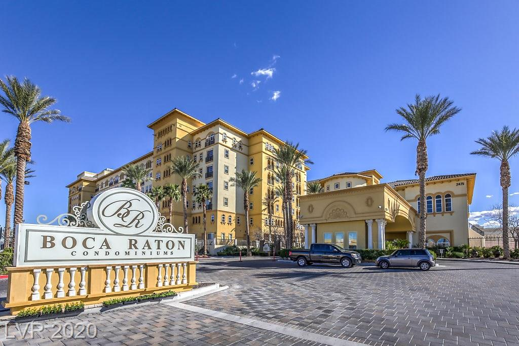 Completely Turn Key Condo on the 9th Floor of Boca Raton on the Las Vegas Strip. Open Spacious Floor Plan with Vaulted Ceilings. Large Master Bedroom with Modern Upgraded Master Bath. Upgraded Fixtures throughout. Laundry facilities in the Condo. Cozy Balcony off Living Room/Dining Room. Community Amenities include Pools, Workout Areas, Computer Room & More. Don't miss out on this 1531 Square Foot Las Vegas Strip Condo on the 9th Floor for only $299,000.