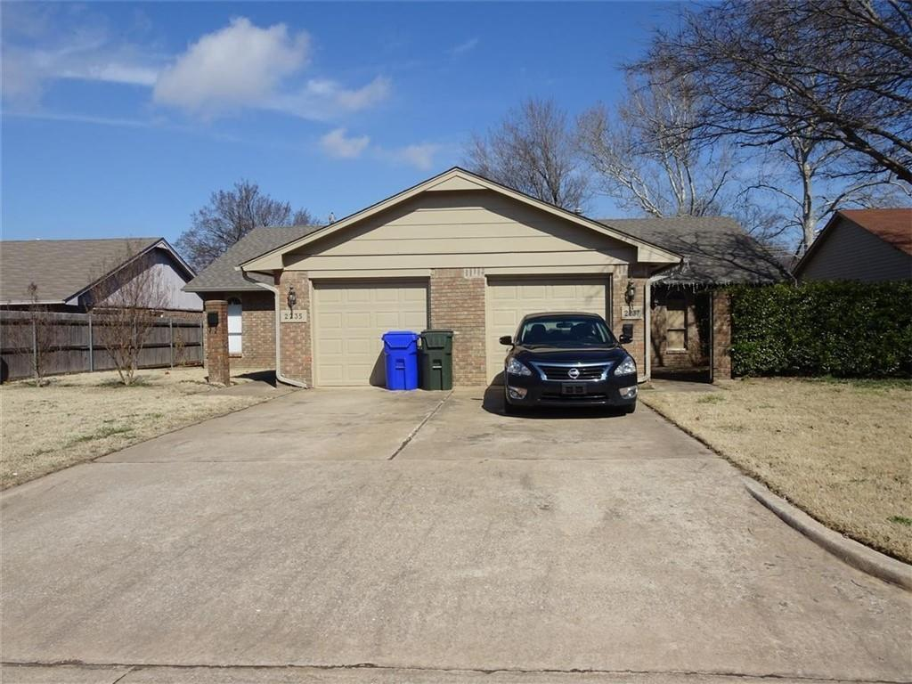 Nice duplex investment/rental opportunity. Each unit has 2 bedrooms, one full bath and one half bath. Both sides are fully fenced. 2235 has been completely remodeled.