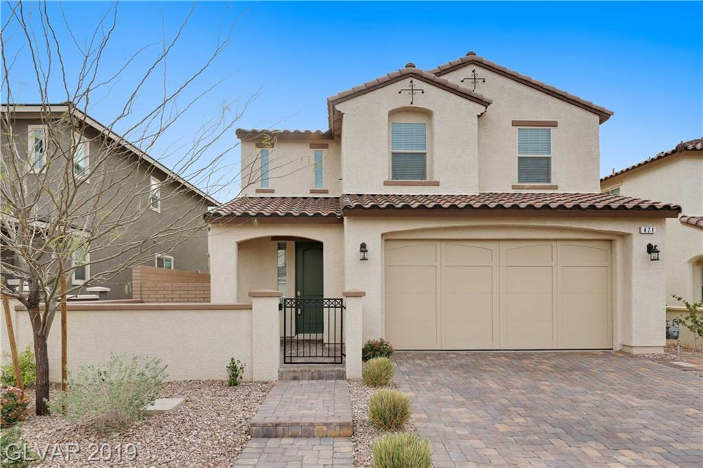 Stunning TWO STORY HOME 4BDRs, 3BTHs in Cadence! Amazing curb appeal w/paved driveway & front porch. Neutral tile flooring throughout downstairs. Kitchen w/upgraded cabinets, SS appl, granite cnts, island & pantry. One BDR & BTH downstairs. Great Master BTH w/walk-in closet upstairs. Master BTH w/dual sinks & shower only. Large Loft. Beautiful yard w/covered patio, desert landscape & synthetic grass. Community w/Pool & Spa, Jogging, Park & Tennis