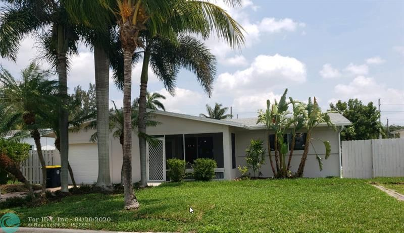 Completely updated and rarely available pool home, makes this a boaters dream home. Deep water canal with ocean access.  This 3-bedroom 2 bath home is move in ready.  Minutes from the Hard Rock Hotel and Casino, Ft Lauderdale Airport. Vacant and very easy to show