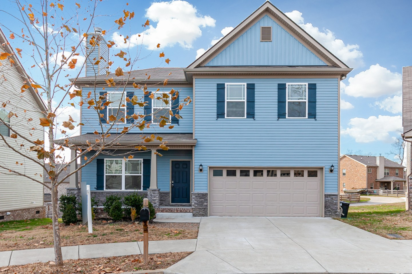 Built in 2017, this Fairview two-story cul-de-sac home offers granite countertops and a two-car garage. This home is vacant and cleaned regularly.