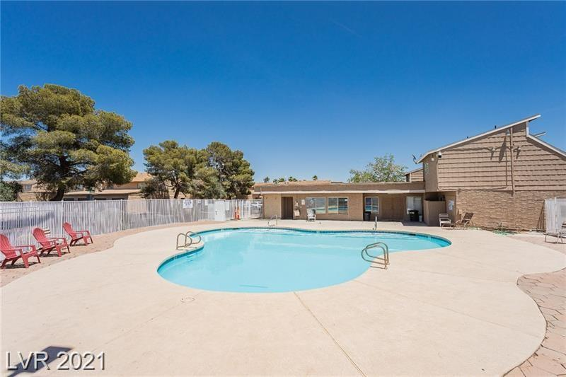 Spacious 1 bedroom condo with 1 car garage in gated community which offers pool and clubhouse. All Appliances are included. Great location, minutes from UNLV, Airport, Easy access to freeways, Strip and much more.