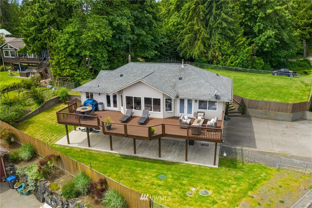 This tastefully designed home offers impeccable views!! Expand out to your oversized deck perfect for entertaining or taking in the million dollar views of the Sound, Mt Rainier & Seattle Skyline. Main level offers an abundance of natural light w/open living/dining rm & kitchen w/SS appliances, & breakfast bar. Master on the main w/views & 5 piece bth. Daylight basement offers 2 additional rms, laundry, 3/4 bth & storage. Oversized deck, fully fenced HUGE yard, garden space, fruit trees & MORE!!