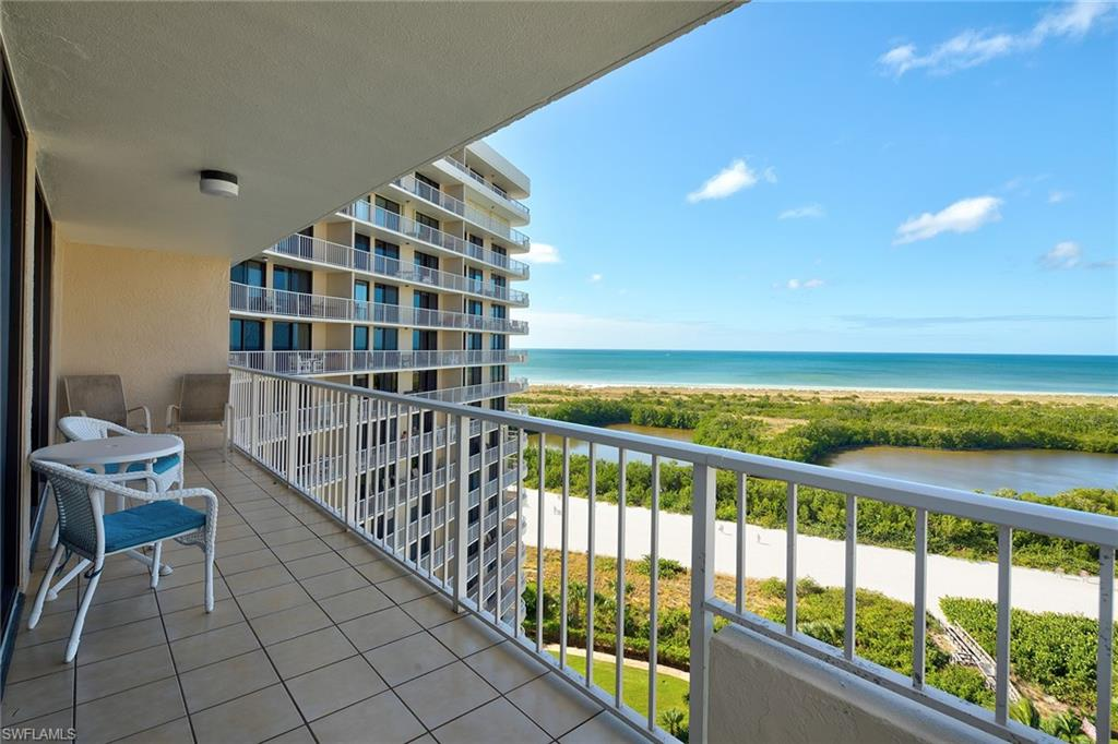 Stunning beach front end wing unit located in the 24 hour guard gated south seas complex. Updated kitchen with a light and airy decor. Stunning beach , pool and island views. This unit has a wrap around balcony with a private breakfast balcony off the kitchen. Amenities include - tennis courts , dock leases, bocce ball , pickle ball and exercise room . Great for permanent living or weekly rental income.
