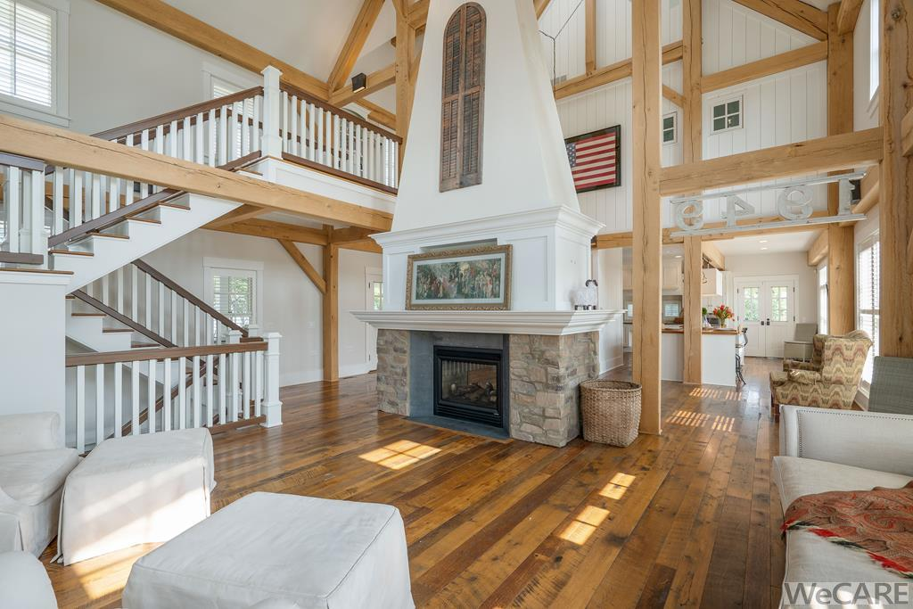 Floors are hand crafted from reclaimed barn siding