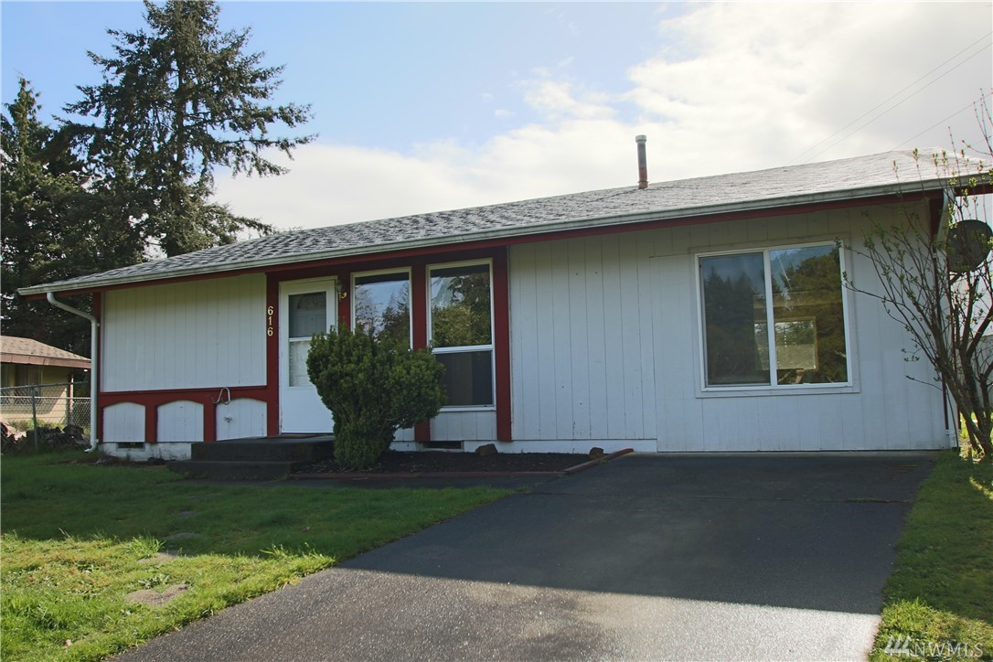 Great location! Near shopping, schools, the RAC (Regional Athletic Complex) and other parks. Easy I-5 access for 20 minute drive to JBLM! Large living room, big vinyl windows, dining and kitchen face the large fenced backyard, 3 bedrooms, 1 full bath with tile tub surround, utility closet has extra storage shelves. Gas central furnace. Storage shed and fire pit in back. New roof in 2016.