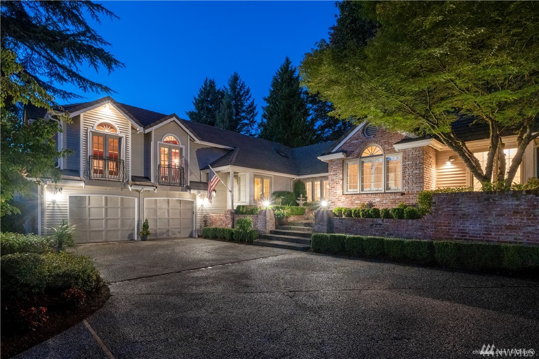 """Welcome home to the safe, private and Resort Style community. Healthy lifestyle with perfect outdoor living and activities. Classical Rambler with a Tranquil Setting offer a view to the 5th Green of Guard Gated Bear Creek Country Club. This Luxe Estate boasts an easy-living fl plan surrounded by mature landscape.  Home Office can be 4th Bdrm.  Entertain with home theatre / activity room, """"Nite at the Ritz"""" master suite, Chef's Dream Kitchen. Top Schools. Close to MSFT, FB, GOOG. Affordable HOA."""