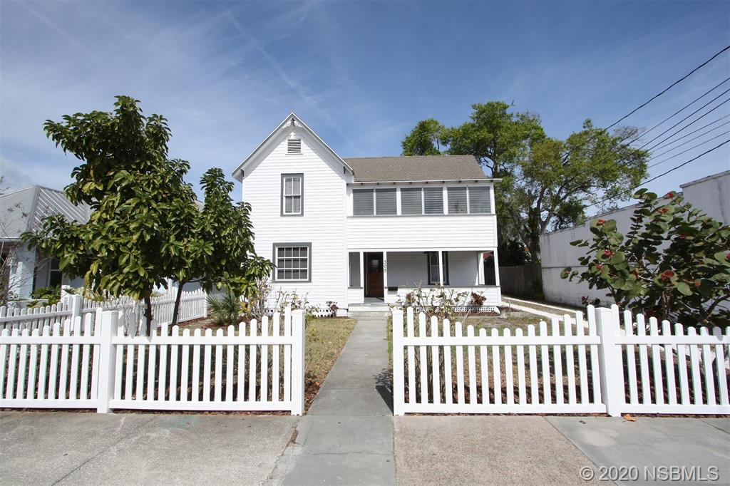 Historic property in the heart of downtown New Smyrna Beach with a versatile MU zoning! Live, work, play all on the same property. Some of the uses allowed in MU Zoning are: Art Studio, ALF, B & B, Package Store, Night Club, Pawn Shop, Restaurant, Rooming Houses, Tavern, Residential Multi-Family (see attached for the entire list of Mixed Use) Super convenient location to Canal Street, City Marina, Farmers Market, the Beach, and everything New Smyrna Beach has to offer. Currently set up with three residential units with three separate electric meters, large detached workshop, RV/boat parking, freshly updated ground floor unit with granite counters and 9' ceilings. Must see this special property!