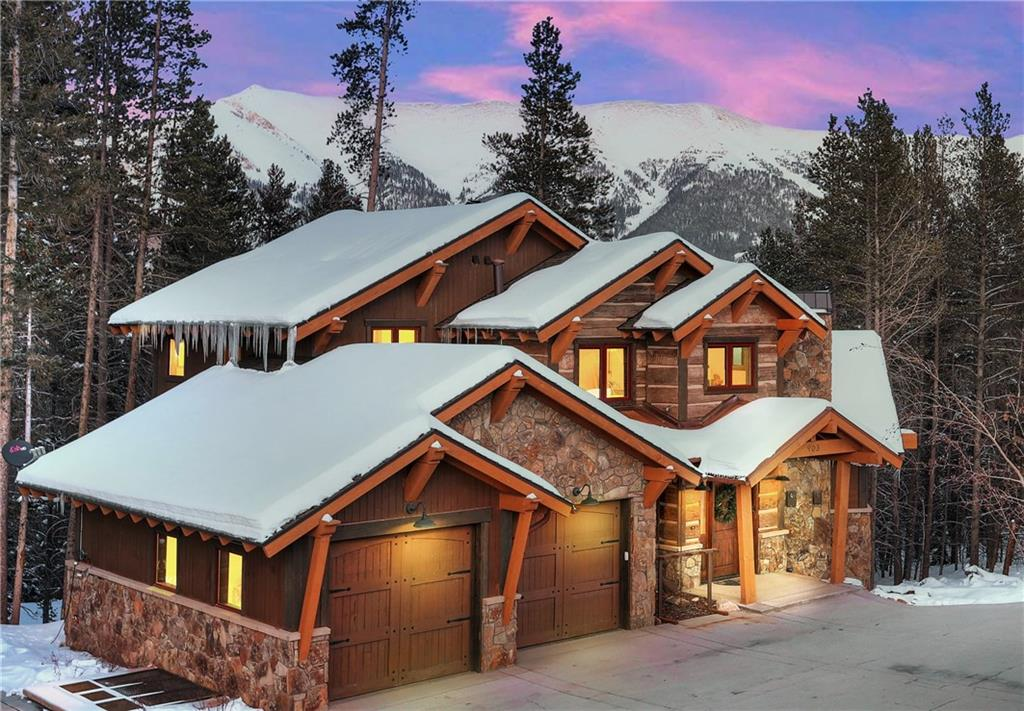 This short term rental powerhouse is steps to the Lumberjack lift.  A mountain contemporary home resonating with quality. This excellent floor plan combines with flawless finishes:  hand-cut stone, custom steel, reclaimed antique wood.  These elements speak of a natural Colorado lifestyle. Gorgeous Sky Chutes views from the rear deck.  Hot tub on private patio.  Gas fire pit.  Fully furnished-turn-key.  Heated drive, deck, patio.  Combined HOAs are only $295 per month.  Rental history attached.