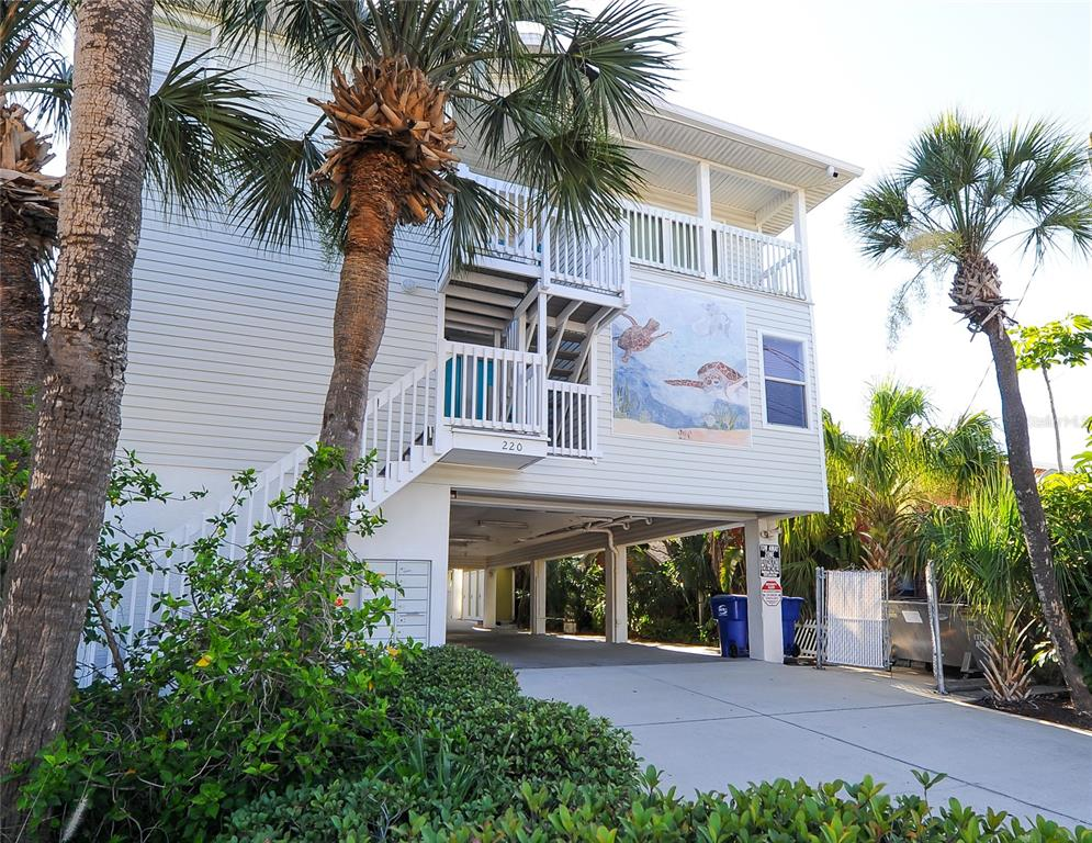 Welcome to your own personal 2-bedroom, 2 bath piece of paradise in Indian Rocks Beach! Sand Isles is a luxurious Florida vacation condo. This residence does offer a partial view of the Gulf of Mexico. The wide, sandy Gulf beach is just down from the pool area and is perfect for sunbathing, shelling, or exploring for miles in either direction. This is a boutique community of only 7 condos where you can peacefully enjoy the tiki hut tables waterside and new sun lounges at the pool as well as on the beach. A community poolside fridge keeps your beverages cool and close at hand! The kitchen is fully equipped its own ice maker and all the expected conveniences of microwave, dishwasher, refrigerator, range, and food disposal. New roof 2019, new HVAC installed 2017. Newer water heater, inside laundry closet with stackable washer & dryer, updated coastal furniture and all tile throughout. All furniture plus 2 bicycles in outside storage are included. There is one under building assigned parking space #E. Live at the beach, own your own investment opportunity, or enjoy a sunny winter home. Two Week Minimum Lease Period (see attachments). Rental income history is available and there are active bookings into 2022.  Can only show during renter change over days. Local sports include the Tampa Bay Rays baseball, Buccaneers football, Lightning hockey, the St Pete IndyCar Race, and the MLB spring training facilities.