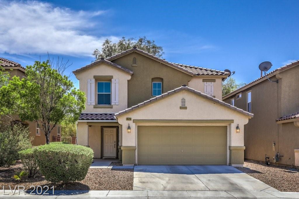 Beautiful 3 Bed, 2.5 Bath, 2 Car Garage Home Centrally Located in the Desirable Master Planned Community of Aliante. Only 1 HOA & NO SID. Minutes to Parks, Schools, Library, Shopping, Restaurants & the Freeway! Charming Front Patio. Spacious Living with an Open Adjoining Dining Area with Lots of Windows for Natural Light. Kitchen w/ Breakfast Bar, Pantry & Lots of Cabinet Space. ALL Appliances Included. Primary Suite Features a Large Walk-In Closet, Stylish Upgraded Bath with Double Sinks, Garden Tub & Separate Shower.Two Secondary Beds with Ceiling Fans. Upstairs Laundry Room with Cabinets/Storage. Neutral Color Palette, Ceiling Fans, Wood Blinds & Recessed Lighting Throughout. Large Easy Care, Pool-Size Backyard that is Perfect for Entertaining. Brand New Water Heater.