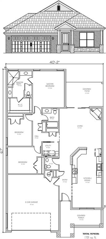 Another charming bungalow in the Hallbrooke Villas!  This villa plan offers approximately 1781sf with 3 bedrooms, 2 full baths and a half bath for guests. Flowing open floor plan. Great use of space maximizing room sizes.  Master bedroom offers separate double vanities, very spacious walk in shower, and large walk in closet. The 2 car garage has insulated walls and an insulated overhead door. Additional features include interior insulated party walls for reduced sound, 16 SEER AC with a 95% furnace, Low E windows, net and blow wall insulation with R38 blown attics, over/under cabinet lighting and almost 99% LED lighting throughout this home. Roof shingles are Malarkey Vista Class 3 shingles. This all equals great value and future savings. Although the builder has spared you future utility expenses, no expenses are spared in the finishing touches. Still time to choose those finishing touches yourself with the help of a designer provided by the builder!