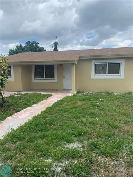 Beautiful 5bdrm/2 Bathroom home located on a quiet street, in Lauderhill, FL. Updated Kitchen, with porcelain tile throughout the home. One of the larger homes within the subdivision. Recently upgraded home. Nice size rooms,  and spacious for large family gathering.Centrally located within 5 mins, from Walmart, I-95. Bring your pre-approved buyers, they don't want to miss this opportunity to purchase this beautiful home!
