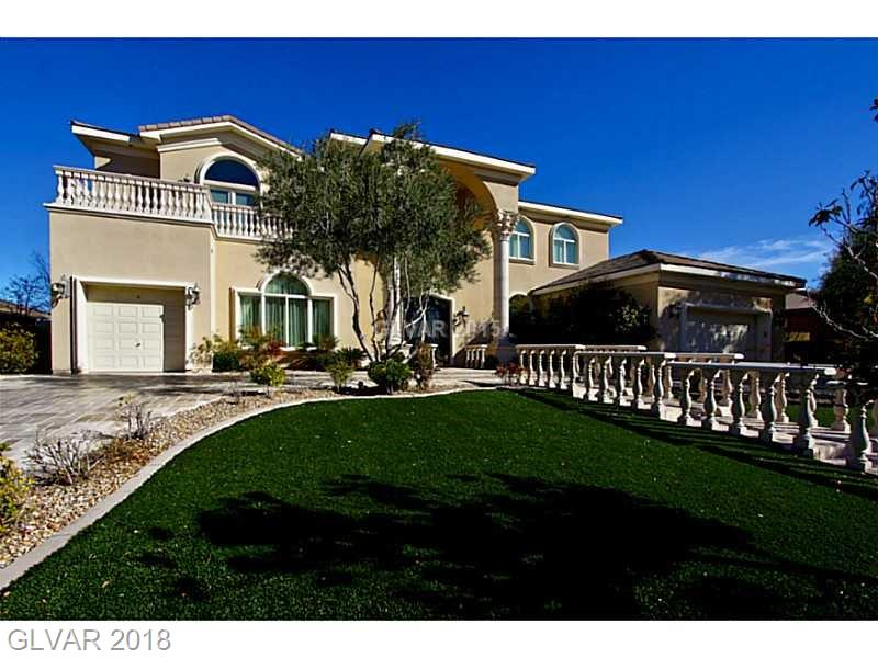 DOUBLE GATED CUSTOM HOME*ATTENTION TO PERFECTION WILL TAKE YOUR BREATH AWAY*DOUBLE WROUGHT IRON STAIRS WELCOMES YOU TO ARCHITECTURAL DESIGNED GRAND COLUMNS & ARCHES*TRAVERTINE FLOORS*CULINARY KITCHEN DELIVERS CUSTOM CABINETS, GRANITE COUNTERS, ISLAND, SS APPLIANCES W/NOOK & BUTLERS PANTRY*LIVE & ENTERTAIN IN STYLE FROM THE THEATRE ROOM, GAME ROOM/LOFT W WET BAR, NUMEROUS FIREPLACES, BALCONIES & POOL/SPA W/OUTDOOR KITCHEN*VIEWS TOO!