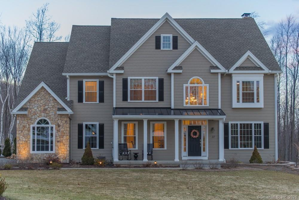Why build when you can move right into this spectacular young colonial located in sought-after area of fine homes in upscale Laurelwood Estates.  Set pristinely on 1.9 acres, high of Mount Southington, with fantastic views, this custom built home features 3,500 square feet of finished living space with 4 bedrooms, 3 full, and 2 half baths.  Beautiful stainless steel and granite kitchen open up to a gorgeous two story family room with floor to ceiling stone fireplace surrounded by custom built-ins.  This home has it all, from hardwood on the first floor and second floor hallway, to a walk-in pantry, gracious formal dining room with wainscoting and coffered ceiling, office with French doors, a convenient rear staircase, and neutral decor, the list goes on and on.  The huge, finished, walk-out basement makes a great multi-purpose recreation space featuring 9 foot ceilings, full size windows that let in plenty of sunlight, a custom built cherry bar, and half bath.  Gorgeous outdoor living space with extensive custom stonework, including retaining walls, stairs, patio, an outdoor fireplace, and a heated in-ground lagoon shaped pool with built-in hot tub.  Property also features stone driveway pillars, security system, custom shed for additional outdoor storage, a whole house generator, irrigation system, and an attached 3 car garage.  Don't wait, take advantage of everything this beautiful property has to offer!  Agent/Owner.