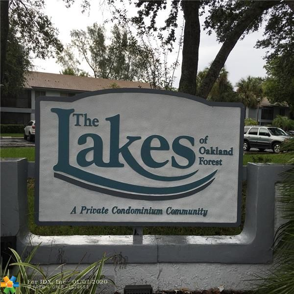 "BRIGHT AND SPACIOUS 2BR/2BA 2ND FLOOR CONDO IN THE HEART OF OAKLAND PARK!   QUIET ""LAKES OF OAKLAND FOREST"" COMMUNITY, CENTRALLY LOCATED, EASY ACCESS TO I-95 & TURNPIKE, SHOPPING, RESTAURANTS, 15-MIN TO FT. LAUDERDALE BEACH.  LARGE TILED SCREENED PATIO W/ACCORDEON HURRICANE SHUTTERS.  PERGO FLOORING, NEW A/C 2019, WASHER/DRYER IN UNIT.  CLOSE TO THE POOL!  NO LEASING FIRST 2-YEARS, SMALL PET < 50 LBS ALLOWED, ONE PET PER UNIT MAX.  FOREIGN SELLER, BUYER TO SIGN FIRPTA ""INTENT TO RESIDE"" AFFIDAVIT AT TIME OF CONTRACT."