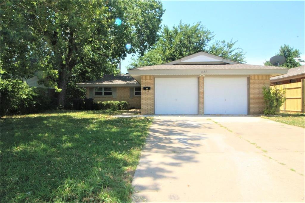 Large & Nicely well kept three bedroom, two bath home located in southwestern Oklahoma City. Home features include double overhead garage door, detached rear storage shed, chain link fenced in back yard, washer & dryer connections, central heat & air, ceramic tile and plush carpet throughout unit and plenty of closet storage. The home is ready for immediate move in. CALL TODAY!!! Security deposit is equivalent to one month rent. No pets please.