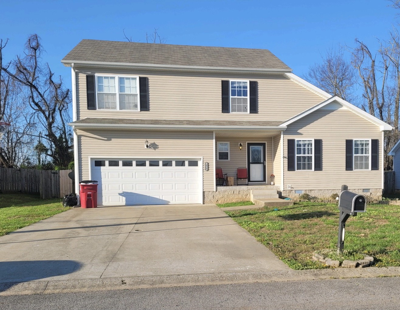 Large well maintained four bedroom home in Hazelwood subdivision.  Vaulted ceilings in spacious living room right off formal dining room. All bedrooms on second level. Master has full bath and walk in closet. Backyard is fenced with a deck right outside the back door!