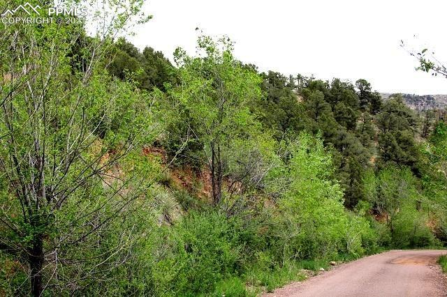 Rare 15 acre parcel in Manitou Springs! Road is maintained and runs to City of Manitou Spring Water Treatment Plant. Multiple potential build sites with million dollar views! Telephone line runs along road through property. Property steep to rolling and moderate-heavily treed.