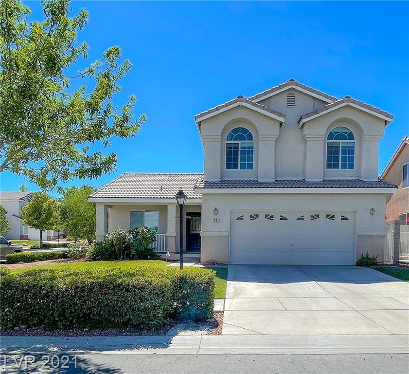 Unique, beautiful gem in a gated northwest Las Vegas community. This community is so lush! It's beautifully landscaped and offers its residents so much: a club house, gazebo, basketball court, playground area, bbq, park, community events, and more! This move-in ready corner 4-bedroom, 2-car garage home won't disappoint and won't last long! Don't miss out. Has a bedroom and full bathroom downstairs. Granite counters, lots of storage, all appliances stay, including washer, dryer and refrigerator! Beautifully landscaped, private backyard. Charming front porch area. Conveniently located near lots of dining, shopping and easy freeway access.