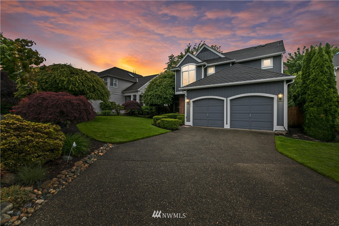 """Pride of ownership is on display throughout this beautiful 2-story home sitting in a private cul-de-sac. Soaring vaulted ceilings greet you in the grand entryway. Thoughtfully designed kitchen w/ high end finishes, cabinetry & custom built pull out drawers. Huge Master Suite w/ 5-piece bathroom. Main floor home office. Real hardwood flooring, 50-year Presidential Roof, Central A/C, & so much more! Just wait until you experience the private, fenced rear yard oasis, complete w/ slate dining patio, breathtaking flower beds, & cozy fire pit for the most relaxing evenings ever! Klahanie is Chinook for """"the outdoors"""" and with miles of trails, multiple parks and many other activities, this is the perfect area or you to get out and enjoy nature."""