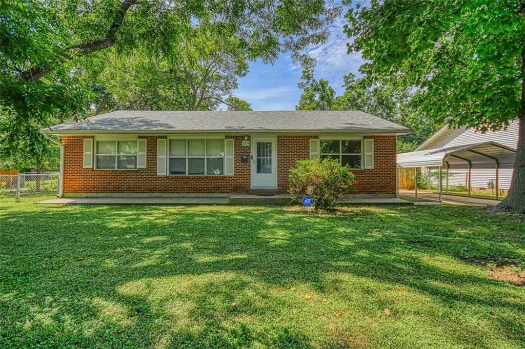 Location, location location! This clean extremely well maintained home is less than a mile to the OU campus, shopping & restaurants. It is nestled in a shady treed lot just a 1/2 block to Lion's Park.The home is light & bright with hardwood & tile flooring. New interior paint & has a split bedroom floorplan. Major improvements to the home in the last 4 years new roof, new HVAC system, electrical upgrades including new breaker box, new hot water tank ,new gutters, new toilets, security system, ceiling fans,new refrigerator, microwave & dryer. Master bedroom has been remodeled to include a new closet & tiling. The 408 sq ft studio (is not part of sq ft of home)has a separate split system heat & air wall unit. It has two adjoining rooms that would be ideal for an office,workout area,art/music/yoga studio storage or other possibilities.There is a garden shed,storm shelter & carport.Nice fenced backyard with patio! This is a rare find so close to campus in a walkable/bikeable neighborhood.