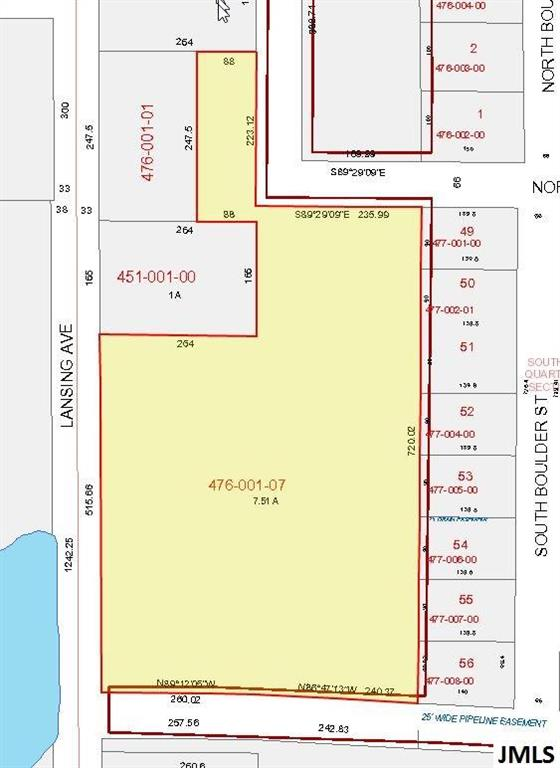 7.51 acres in Blackman Township off Lansing Avenue in front of Stonegate Farms. Ideal for development and general commercial use.