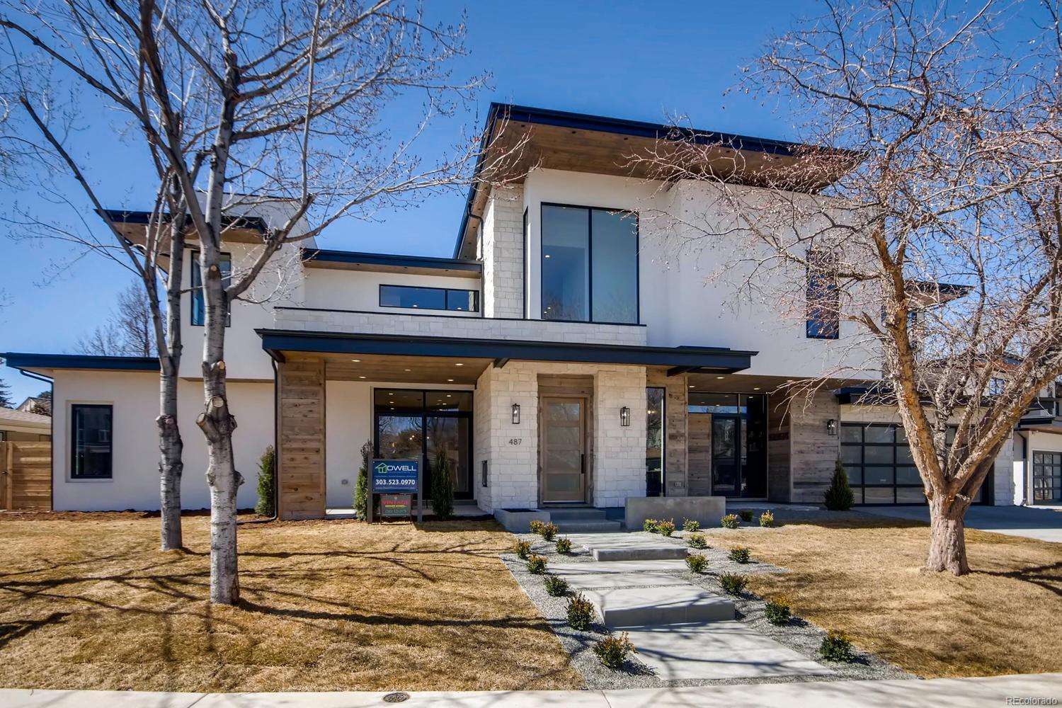 2018 Award Winning Dwell Development & Godden Sudik Architects, joined forces for this contemporary Belcaro custom home. Located on a 10,660 lot in heart of classic Stokes/Belcaro neighborhood. Outdoor living thru a 12ft. Nano door that opens to a perfectly configured space w/gas fireplace. Be WOWED when you enter..22ft. ceilings on main floor w/stunning floating-thickened tread contemporary staircase. Chef's Kitchen w/high-end Thermador app, Calcutta Gold Quartz counters & custom cabs. Main floor guest suite w/private bath. Large master suite w/sitting area, private balcony & 5-piece bath w/Carrara marble, & oversized shower. 3 add'l bedrms on 2nd floor each w/full bath. Oversized 3 garage, smooth walls, state-of-the art Dolby surround sound system & alarm, glass wine cellar, high efficiency water heater. Many options for the add'l finished bsmt area: bdrm, play room, office, Exercise Room? Ultimate urban retreat for the discriminating buyer! Minutes away from Cherry Creek & Wash Park