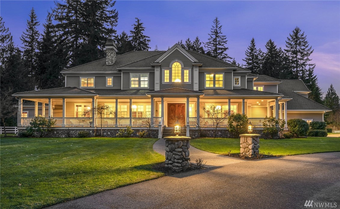 Designed for luxury living & poised for large scale entertaining this private gated estate provides a truly unparalleled lifestyle in the  PNW! Featuring a world class resort inspired pool w/waterfalls, slide, spa, cabana w/kitchen & a sports court. Incredible array of garages offer parking for 11+ cars. You'll enjoy entertaining in your fabulous oversized chefs kitchen w/an adjacent sunny atrium. Create time for joyful pursuits with an amazing home theater, large great room & a library.