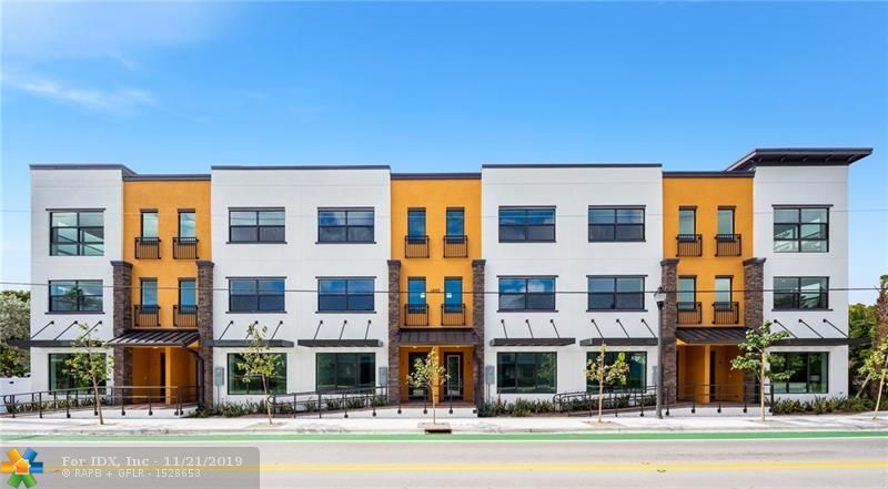 The Park at Middle River Terrace is east Ft. Lauderdale's newest townhome concept. These one of a kind units offer a vibrant way of life. Nestled between Wilton Manors & Flagler Village, you are truly in the heart of it all.  This unit boasts approximately 3000 square feet, 3 bed, 3.5 bath & 2 car garage. Unit 2 is the North interior unit. These live-work townhomes accommodate first floor walk up entry for your business.  Exquisitely appointed warm modern design, stainless steel appliances, quartz countertops, & impact windows & doors. No rental restrictions! Call us today for your private tour. Floor plans, color schemes, approved uses and features list attached. Delivering Summer 2019.