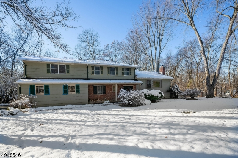 """Expanded and redesigned space ensures easy living in a quiet Martinsville neighborhood! This 4/5 BR home is nestled on a scenic lot in a convenient setting! Enjoy a gracious Living Rm with fireplace that opens to a Dining Rm with enough room for everyone.  A large country Kitchen flows into a sun-filled Family Rm that opens to a massive custom Patio featuring a decorative pond, landscape bed, & seating/grill areas. Upstairs a Master BR addition with an updated Bath & walk-in closet is ideal for unwinding. 3 more huge BRs ensure no one gets the """"small"""" room. An Office/Den is the finishing touch.  All Baths are updated! Gorgeous wooded backyard affords great views and easier maintenance! Hardwood floors throughout. Sought-after Martinsville locale near commute routes, shopping, dining, schools, & recreation!"""
