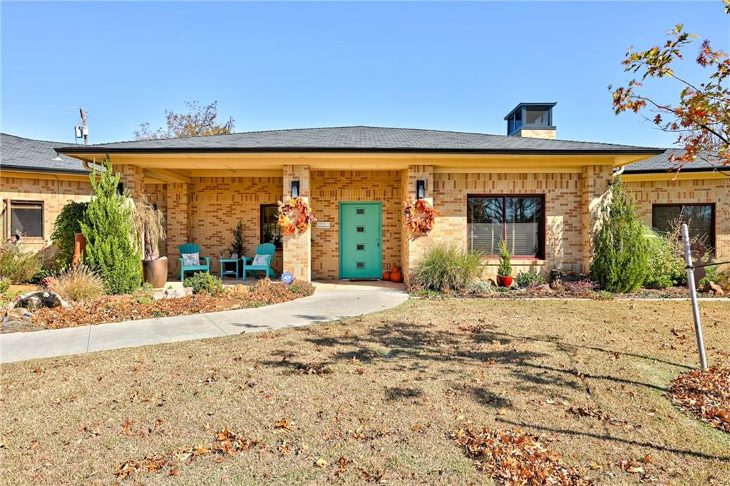 Completely custom built contemporary ranch style home completed in 2015.  Beautiful, oversized living area with vaulted ceilings. Custom built-ins and high ceilings throughout entire home.  Large, two sink kitchen with Viking range.  Master with double vanities, walk in shower, copper soaking tub, and large walk in closet.  Office with fire place and walk-in vaulted-door safe room.  Very large 1800 sqft garage with shop room and two walk in storage rooms, all under HVAC. Opens up to a sport court. Sprawling back yard has plenty of covered patio space along the pool. Yard wraps around the entire corner lot with a great deal of beautiful landscaping!