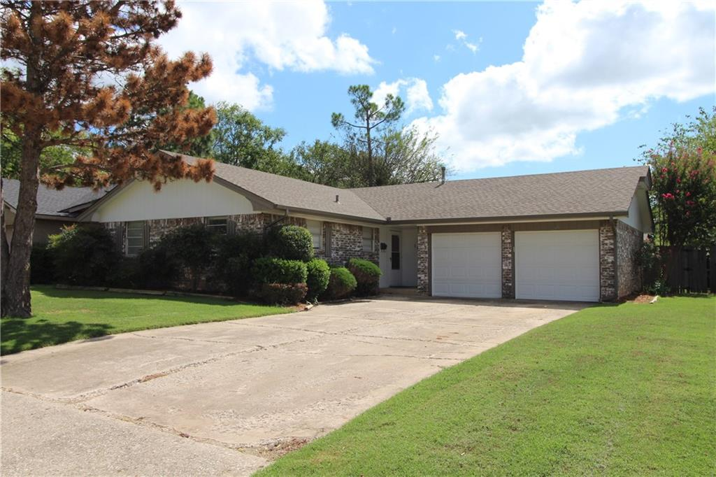 Well cared for home with 3 bedrooms, 1 bath, and a 2 car garage with a large fenced yard.  Ceramic tile floors in the kitchen and bathroom, ceiling fans in the living room and all bedrooms.  Not far from campus, shopping, etc.