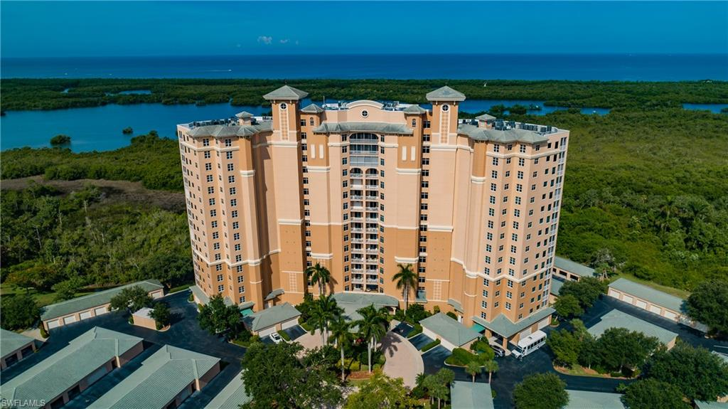 UNPARALLED PENTHOUSE. NO senior residence like this anywhere!  100% deeded equity in long established and respected RESIDENT OWNED community. Gorgeous 16th floor double unit with unobstructed views over Little Hickory Bay, Gulf of Mexico and preserve areas- EAST and WEST VIEWS! Over 3,580 sq ft under air customized into 1 fabulous home with 3 bedrooms, (2 are master suites), office space with built in cabinetry and quartz counter tops. formal dining area, grand living room, spacious kitchen, walk-in pantry, and wine storage allow for easy, impressive entertaining. Electric hurricane shutters, laundry room, double storage on same floor,  plus 4 CAR GARAGE attached to building! ARBOR TRACE-TOWER POINTE, 40 acres along the Gulf in North Naples off Vanderbilt Drive. Amenities include lounges, beauty/barber salon, private fitness center, library, health center and highly rated Assisted Living Facility.  36,000 sq ft clubhouse, outdoor pool & spa, putting greens, horseshoes, shuffleboard, bocce and tennis court. Services: Fine dining, social, cultural, recreational AND educational events/programs. 24 HOUR medical monitoring. BEST part is terrific neighbors, friendly and diligent staff.