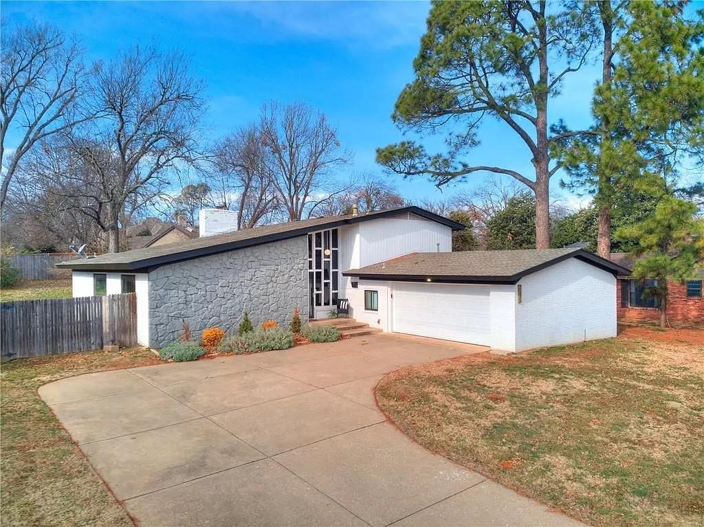 You will not want to miss your opportunity to see this beautifully remodeled mid-century home that is nestled right in the heart of Norman!  Driving up to this home you will immediately notice the stunning architectural design!  The moment you walk through the front door you will be in awe with the sprawling ceilings, functional open floor plan, and all of the incredible and unique character this home has to offer.  In addition to the amazing architectural details- this home offers new windows, new flooring, new fixtures, new paint, a stunning wood burning fireplace, beautiful fresh landscaping, a new sprinkler system, a spacious lot, and a sparkling in-ground swimming pool.  An added bonus- this home is just minutes from Norman's best restaurants, shopping, the University of Oklahoma, and entertainment venues.  Schedule your showing today!